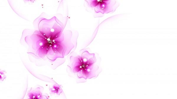 плавающие шелковые цветы