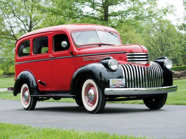 1946 Chevrolet Carryall Suburban ретро машина
