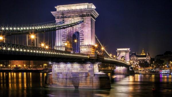 Цепной мост Сеченьи, Висячий мост, Будапешт, Венгрия