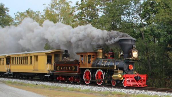 ретро локомотив, железная дорога, поезд