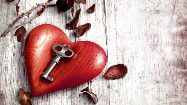 дерево, сердце с ключом