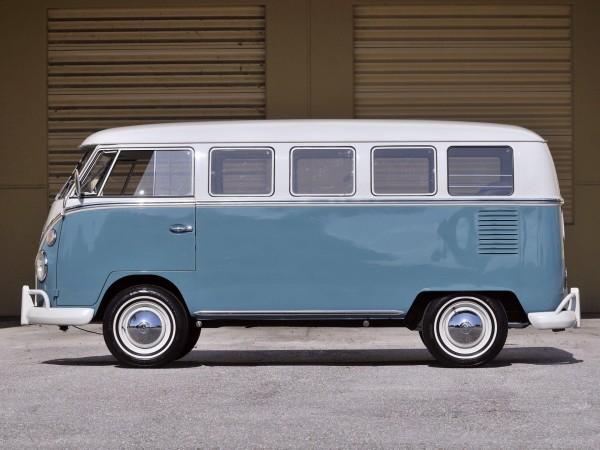 67 Volkswagen Делюкс Бус фургон 1963 Классическая картина высокого качества