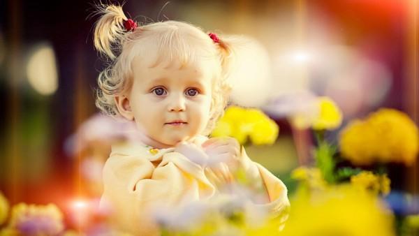 девочка, красивая прическа, ребенок, малышка
