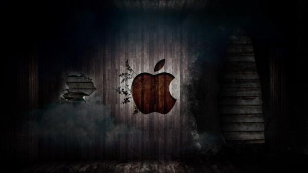 логотип, Apple, резаные
