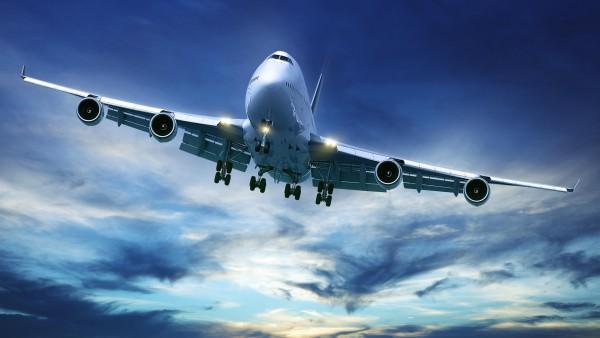 Boeing 747, авиалайнер, небо, самолет
