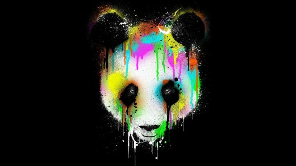 Free colorful panda face for Widescreen