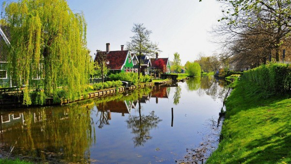 Нидерланды, Природные пейзажи, канал
