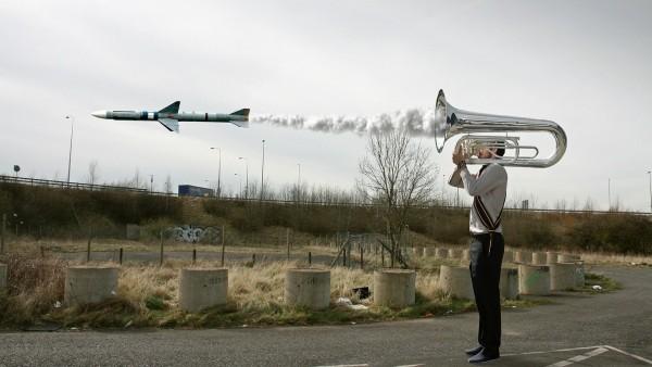 Труба-ракета прикольные обои на рабочий стол