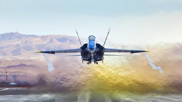 F18 Hornet истребитель обои на рабочий стол