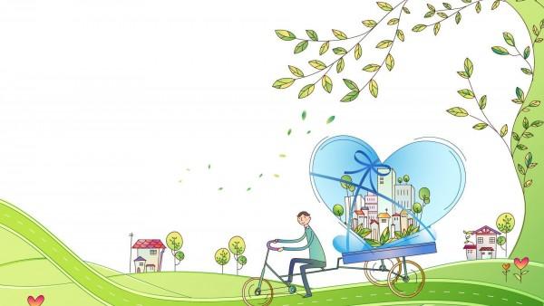 HD провези свой город на велосипеде обои на рабочий стол