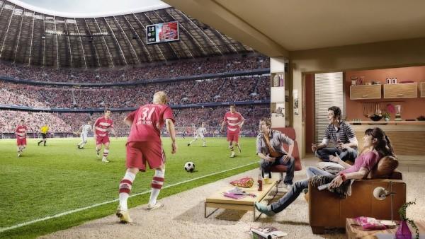 Смотреть футбол на стадионе в домашнем кресле картинки