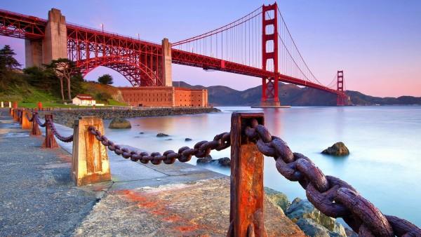Побережье, золотой мост, ворота