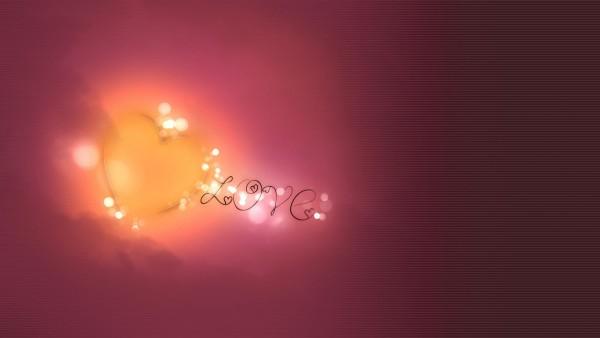 Сердце, Любовь, светлые полосы, фон