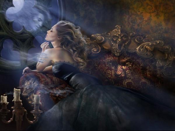 Любовь, романтика, дух, зеркало, печаль, женщины, блондинки