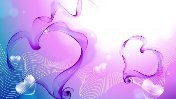 Любовь, Романтика, День Святого Валентина, Сердце, Вектор, фон