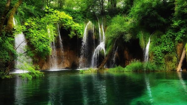 free wallpaper parque nacional Los Lagos Plitvice Croacia Waterfall