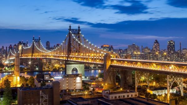 Квинсборо, мост, Нью-Йорк, Сити, Манхэттен