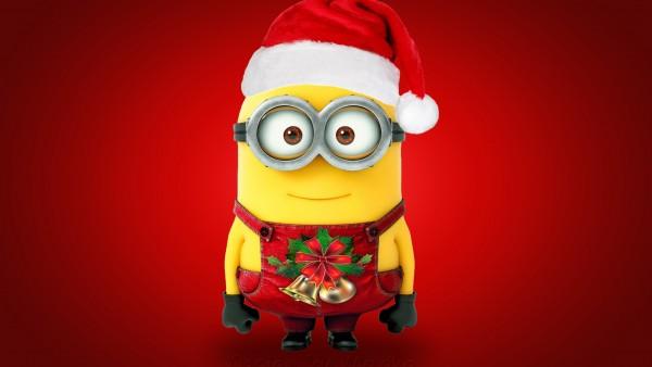 Рождество Санта миньон широкоформатные обои скачать