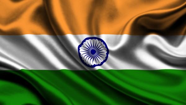 индийский флаг широкоформатные обои скачать