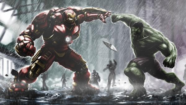 Ironman Hulkbuster против Халка широкоформатные обои