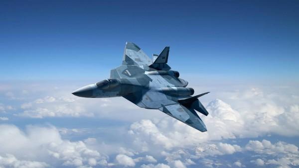 самолет-невидимка Т-50 ПАК обои