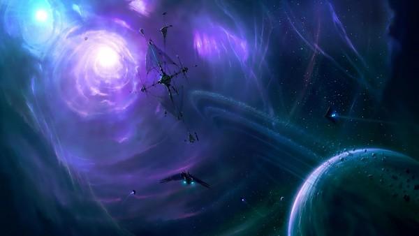 Наука, космос, фэнтези, звезды, сияние