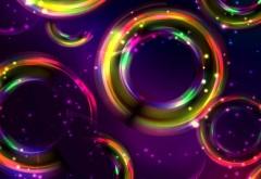 Красочные круги абстрактные обои hd
