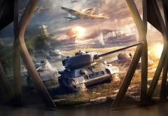 блицкриг, World of Tanks, онлайн-игра, WoT, танчики, танки, игра обои HD