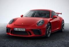 Спортивное купе Porsche 911 GT3 2017 красного цвета обои HD