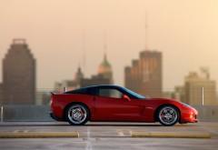 Chevrolet Z06 красный суперкар обои