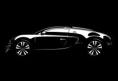 Бугати Вейрон автомобиль на черном фоне заставки