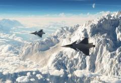 Фото истребителей над облаками