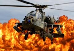 AH-64, вертолеты, Apache, заставки, взрыв