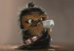 Star Wars, ребенок Чубакка, юмор, прикол, картинки