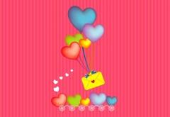 послать сообщение через сердца шар