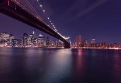 Бруклинский мост, Висячий мост, США, Ист-Ривер, Нью-Йорк