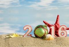 2016, новый год, море, пляж, звезда