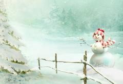 Рождественский снеговик заставки