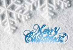 С Рождеством снег HD фон