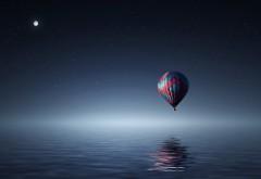 воздушный шар над морем заставки