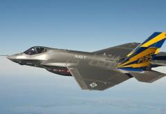 F-35, боевой самолет, истребитель, небо, Ф-35