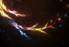 магические огни, фоны, фон, цвета, абстрактные, космос, линии