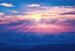 Солнечные лучи небо облака HD Обои для рабочего