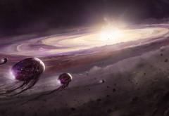Космические корабли приближающиеся к Андромеда