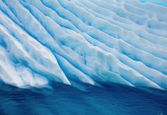 широкоформатные обои ледника в океане HD