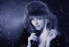 russian girl, Русская девушка, шапка-ушанка, модель