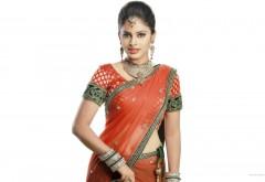 free wallpaper Saree Actress Nandita Swetha HD