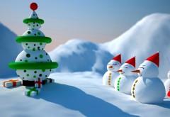 Снеговики, елка, улыбка, праздник, подарки, Новый год, Р�…