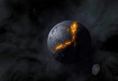 разлом планеты в космосе HD обои