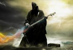 Смерть, дьявол, гитара, юмор, музыка, небо, смерть с гита…